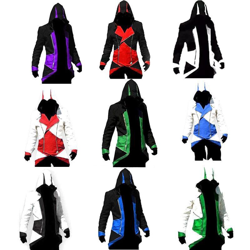 Assassins Creed Cosplay Adult Men Women Streetwear Hooded Jacket