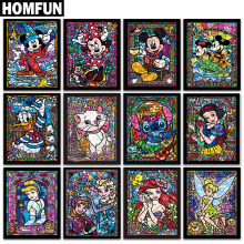 "HOMFUN Voll Platz/Runde Bohrer 5D DIY Diamant Malerei ""Cartoon zeichen"" 3D Stickerei Kreuz Stich 5D Strass decor(China)"