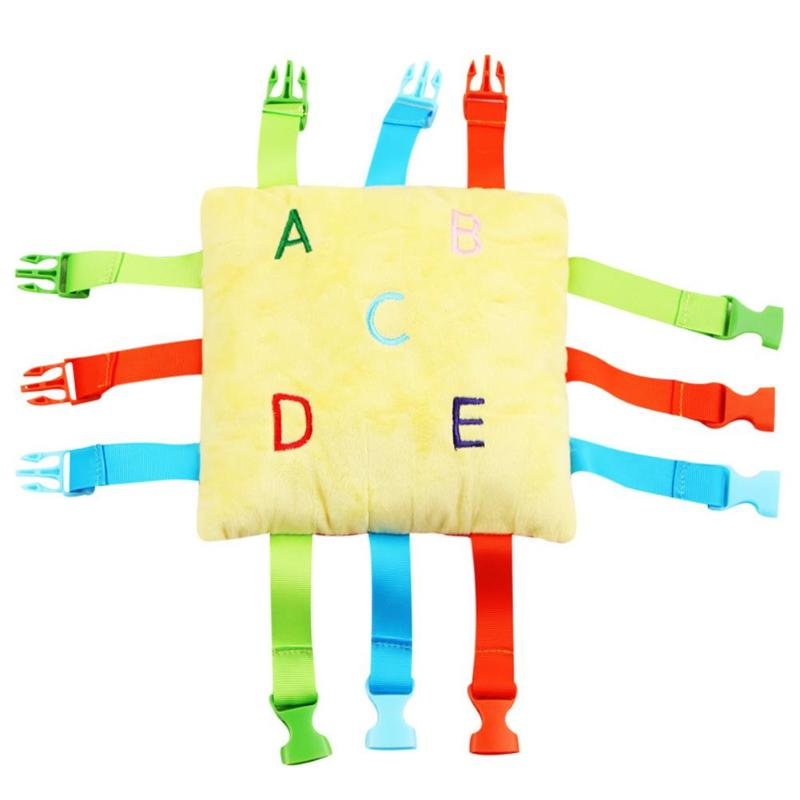 Montessori Baby Buckle Toy Kids Basic Life Skill Training Educational Toys