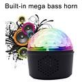 Стробоскоп вечерние свадебные Рождество Вращающийся DJ Bluetooth динамик Звук Активированный Мини светодиодный светильник-шар для дискотеки usb ...