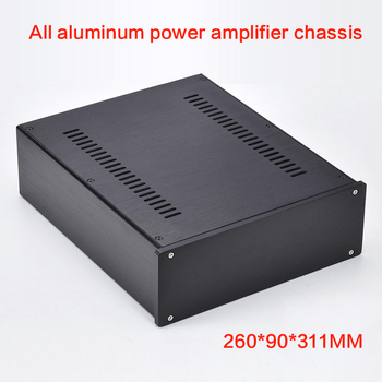 DIY All-aluminum Power Amplifier Chassis 2609 Preamp Case Amp Shell Amplifier box audio Enclosure 260*90*311MM
