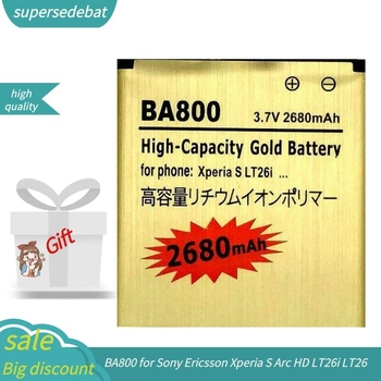 Supersedebat baterías recargables para Sony Ericsson Xperia S arco HD LT26i LT26...