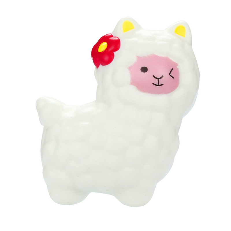 11x10cm Squichi Kawaii Llamas Squishy Elastic Soft Slow Rising Decompression Toys Fruits Scented Squeeze Stress Relief Toys A40