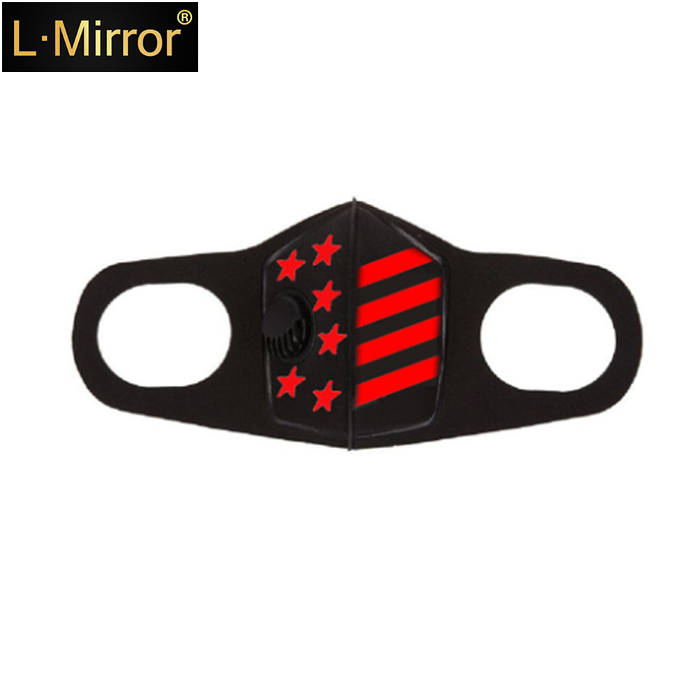L.Mirror 1Pcs Fashion Dust Mask Upgraded Version Men & Women Anti-fog Haze Pm2.5 Pollen 3D Anti-dust Mouth Mask