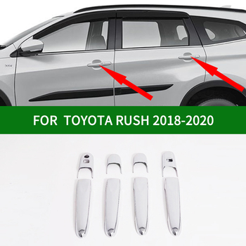 Glossy accessories chrome silver car side door handle cover trim for TOYOTA RUSH 2018-2020 rush 2019 image