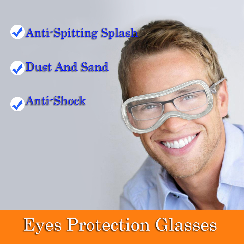 Dustproof Waterproof Overcover Glasses Enlarged Transparent Eyes Protection Glasses Breathable Allcover For People With Glasses