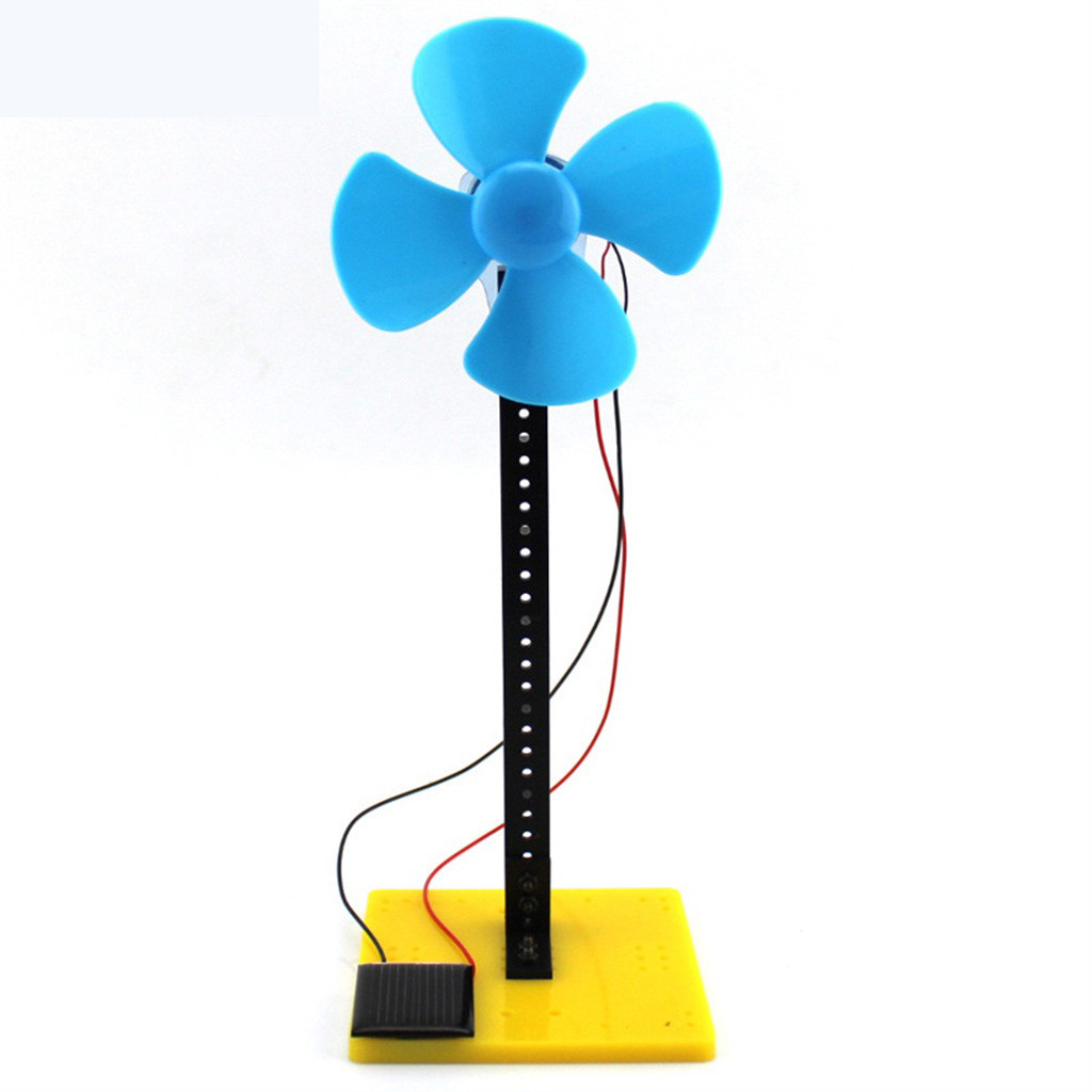 Diy Solar Panel Fan Model Building Material Kit Generator Dc Motor Science Experiment Discovery Creative Educational Toys