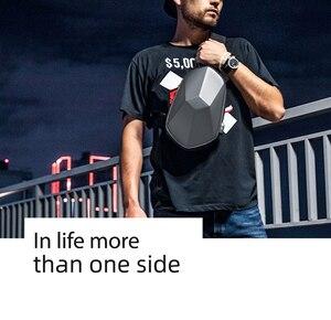 Image 4 - Youpin BEABORN polyeder PU Rucksack Tasche Wasserdichte Bunte Freizeit Sport Brust Pack Taschen Für Herren Frauen Reise Camping