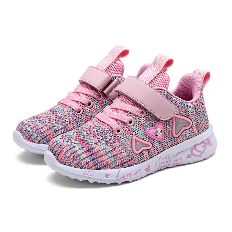 Girls Breathable Pink Sports Shoes 2