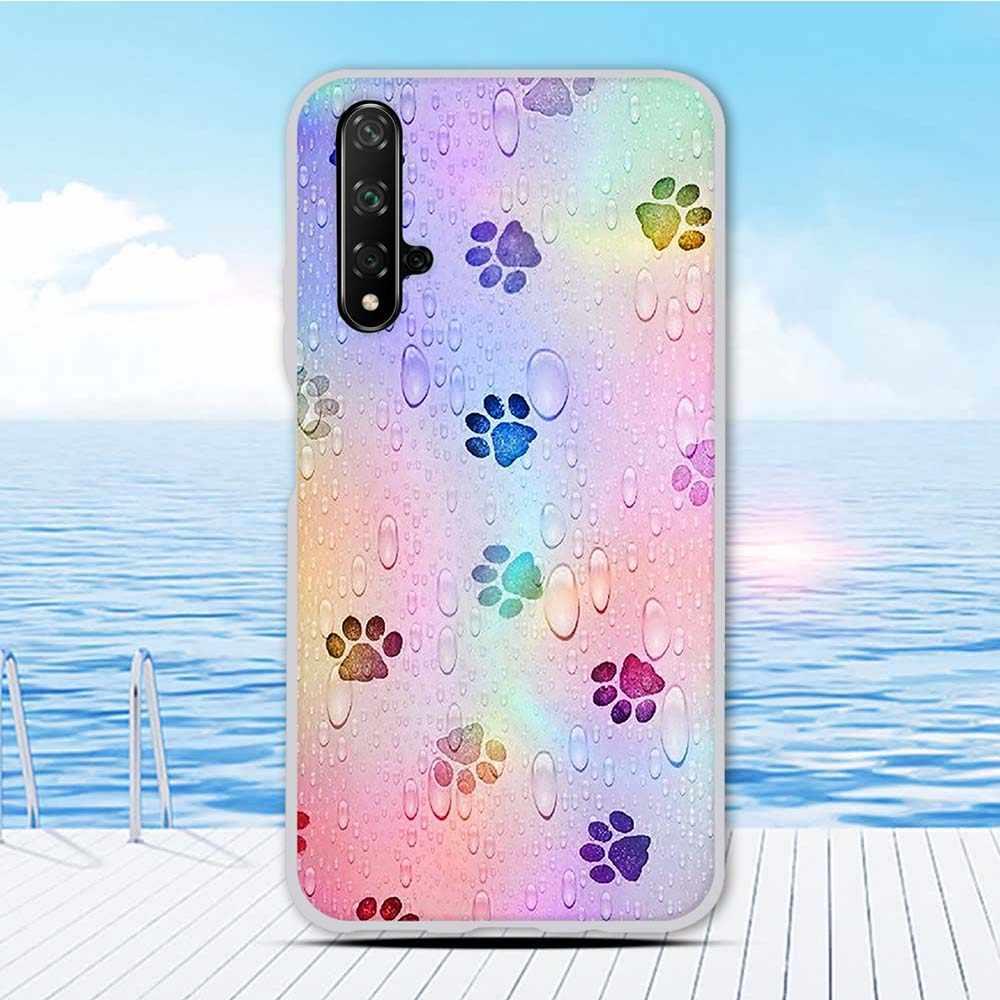 Dla Huawei Honor 20 tylna pokrywa dla Huawei nova 5T TPU Coque dla honoru 20S silikonowa ochrona zwierząt Funda zderzak