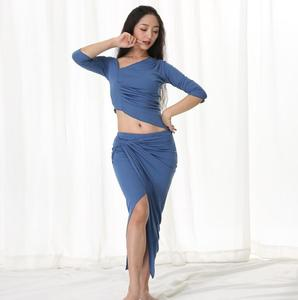 Image 4 - Winter Warm Dance Costume Modal Long Sleeve Women Oriental Dance Practice Outfit Sexy Skirt 2 Piece Set X Large Big Size