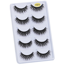 WOMELL 5Pairs Lashes 3D Mink Eyelashes 100% Cruelty free Lashes Handmade Reusable Natural Eyelashes Popular False Lashes Makeup