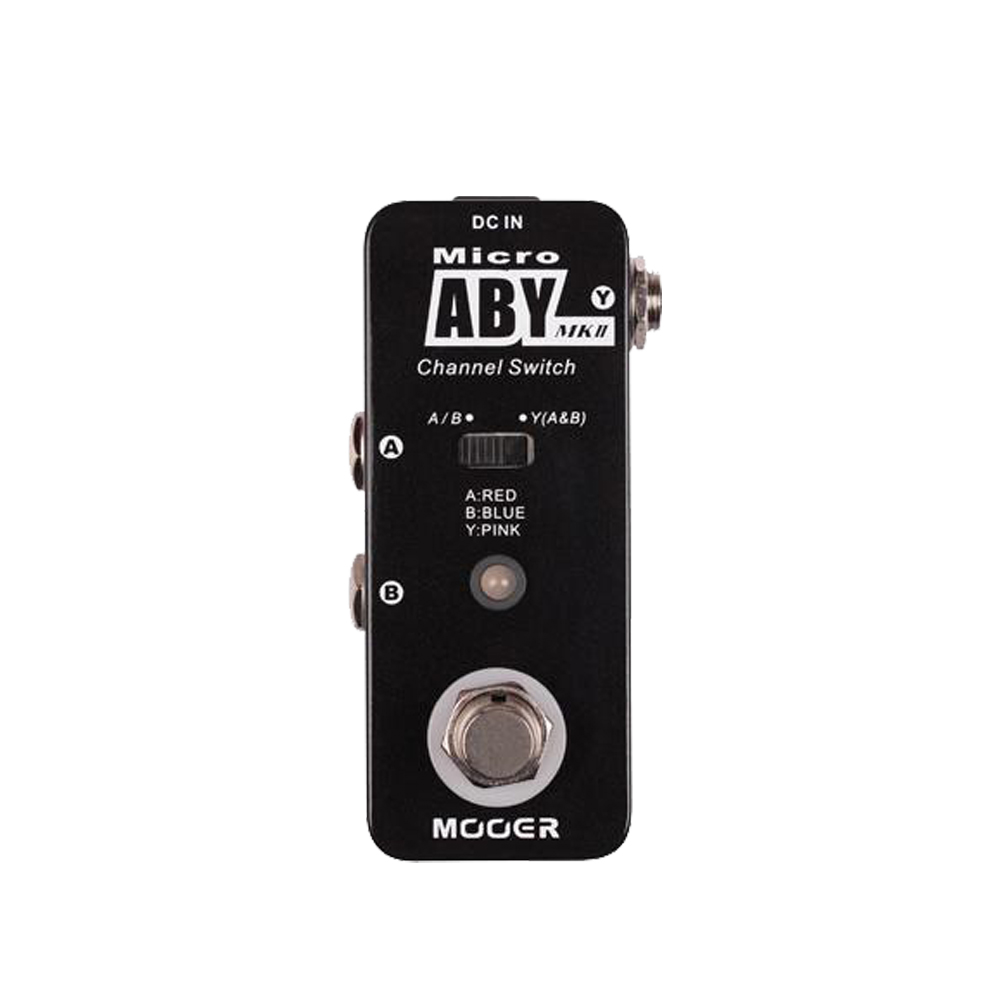 MOOER ABY MKII Guitar Effect Pedal Channel Switch Guitar Pedal True Bypass Full Metal Shell MAB2 Guitar Accessories