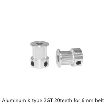 GT2 Timing Pulley 20 teeth Bore 3mm 3.17mm 4mm 5mm 6.35mm 8mm for width 6mm 2GT Synchronous Belt Small backlash 20Teeth image