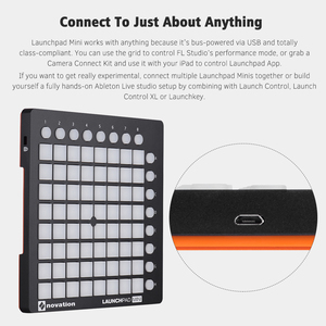Image 4 - novation LAUNCHPAD MINI Ultra compact USB MIDI Drum Pad Controller for Ableton Live 64 Backlit Pads 16 Control Buttons