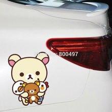 Новейший автомобильный стикер картонный Медведь Rilakkuma комбинированный автомобильный чехол для Tesla Toyota Volkswagen, Chevrolet Ford для Fiat и BMW honda, lada