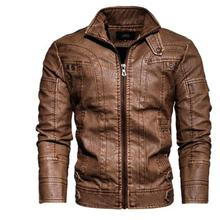 Leather jacket male-cafe racer senior Leather distressed motorcycle jac