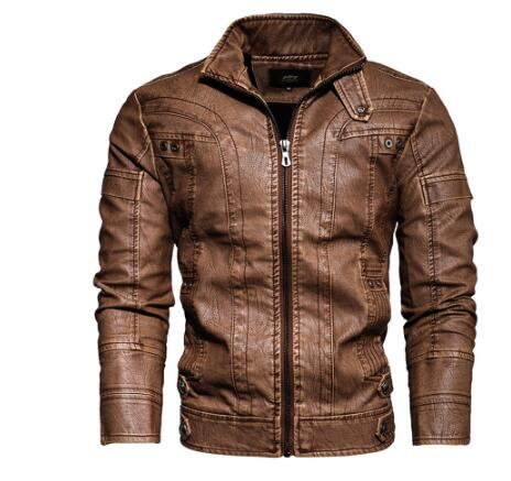 Leather Jacket Male-cafe Racer Senior Leather Distressed Motorcycle Jacket