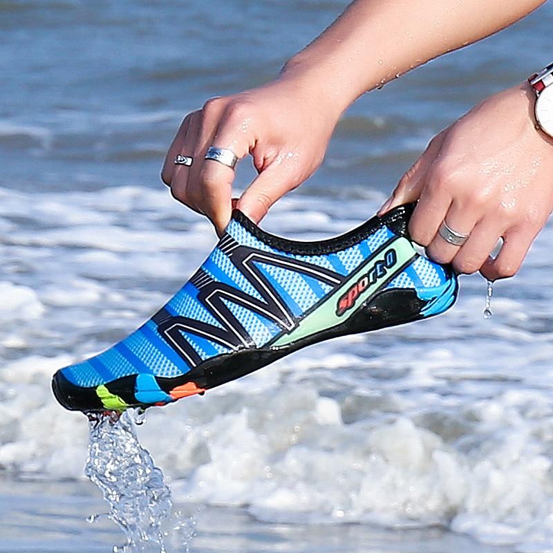 Unisex Sneakers Swimming Shoes Water Sports Aqua Seaside Beach Surfing Slippers Upstream Light Athletic Footwear For Men Women