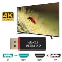 Sıcak 4K DisplayPort DP erkek HDMI dişi kablo adaptörü ekran portu dönüştürücü için projektör için HP/Dell dizüstü bilgisayar HDTV PC