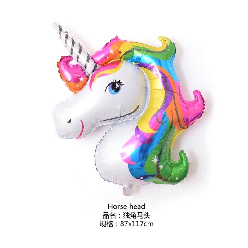 46 pulgadas unicornio fiesta globo decoración mini fiesta de cumpleaños baby shower boda decoración globo niños juguete regalo 10 piezas - 2