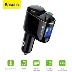 Baseus FM Transmitter Modulator Bluetooth 5.0 Wireless Car Audio MP3 Player Cigarette Lighter Socket Splitter Car Phone Charger