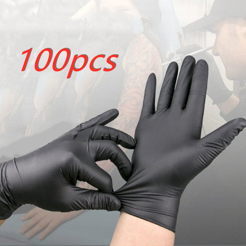 Disposable Non-toxic Nitrile Latex Gloves Latex Health Epidemic Prevention Gloves Nitrile, Not Easy To Break Anti Epidemic Tool