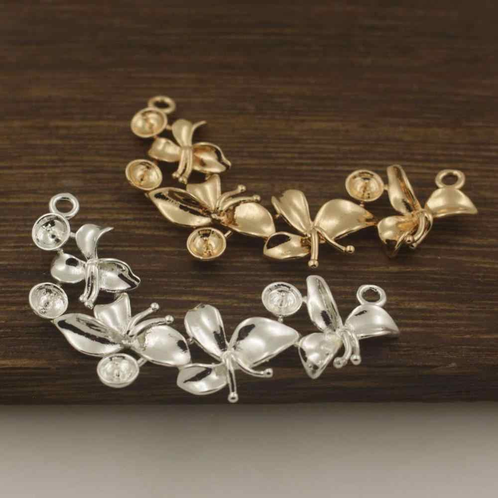 20pcs Flower Creepers Leaf Vine Branch Connectors Pendant Charms Quality Brass Metal DIY Wedding Hair Decora Jewelry Accessories