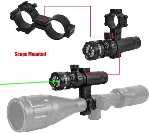 ajustavel 532nm montagem ponteiro laser rifle arma