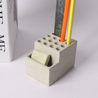 Concrete pen holder silicone mold porous design cement mould for business card office mold office room furnishing articles mold
