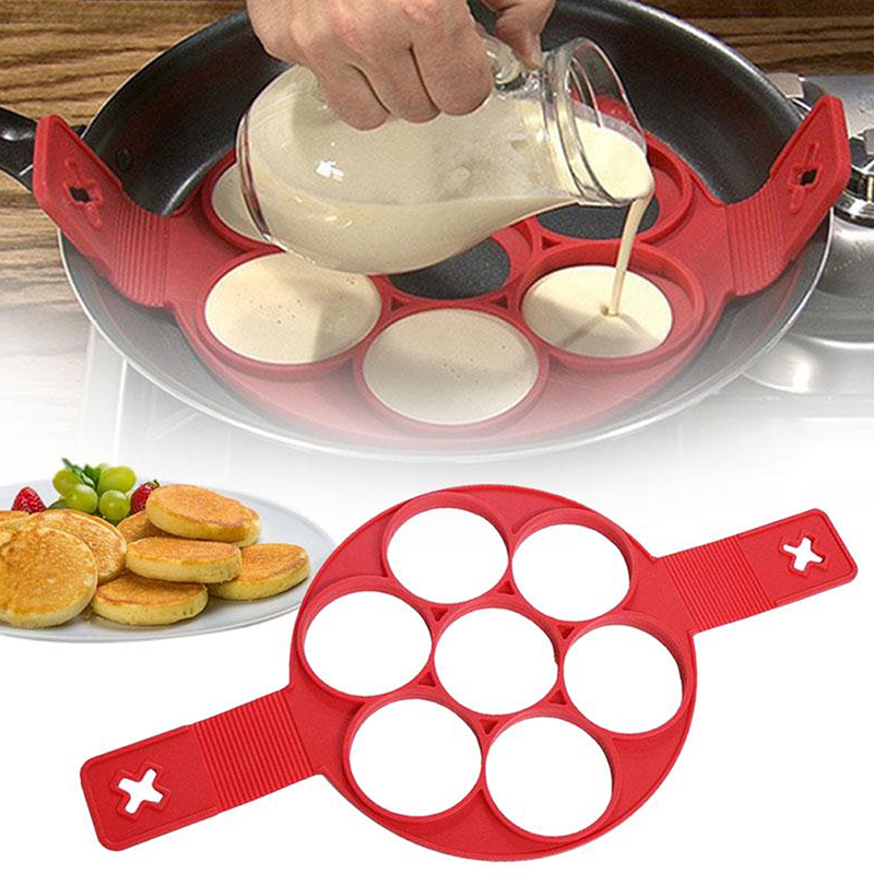 Silicone Nonstick Fired Egg Pancake Maker Ring Cooking Tool Egg Cooker Omelette Moulds Pan Flip Eggs Mold Kitchen Baking Gadgets