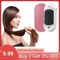 Ионная электрическая щетка для волос 2 0 портативные отрицательные ионы выпрямитель для волос модная Вибрирующая Массажная щетка для волос