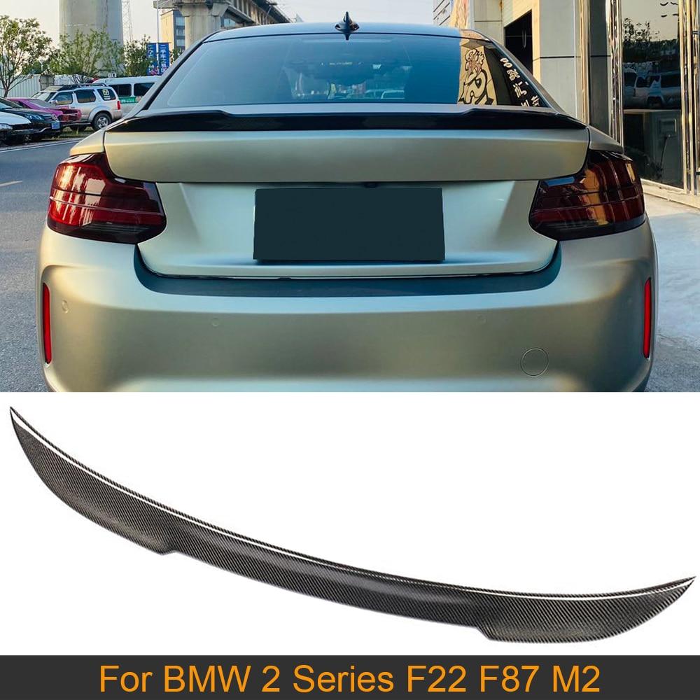 Fibra de carbono traseiro tronco spoiler asa para bmw série 2 f22 f87 m2 base sedan m sport coupe 2014-2019 tronco traseiro lábio asa spoiler