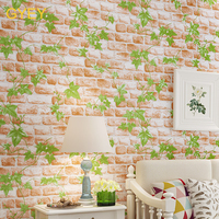 10MAmerican Retro Nostalgic Brick Wallpaper Imitation Wood Personality Classical Wallpaper Hotel Bar Restaurant Living Room Wall