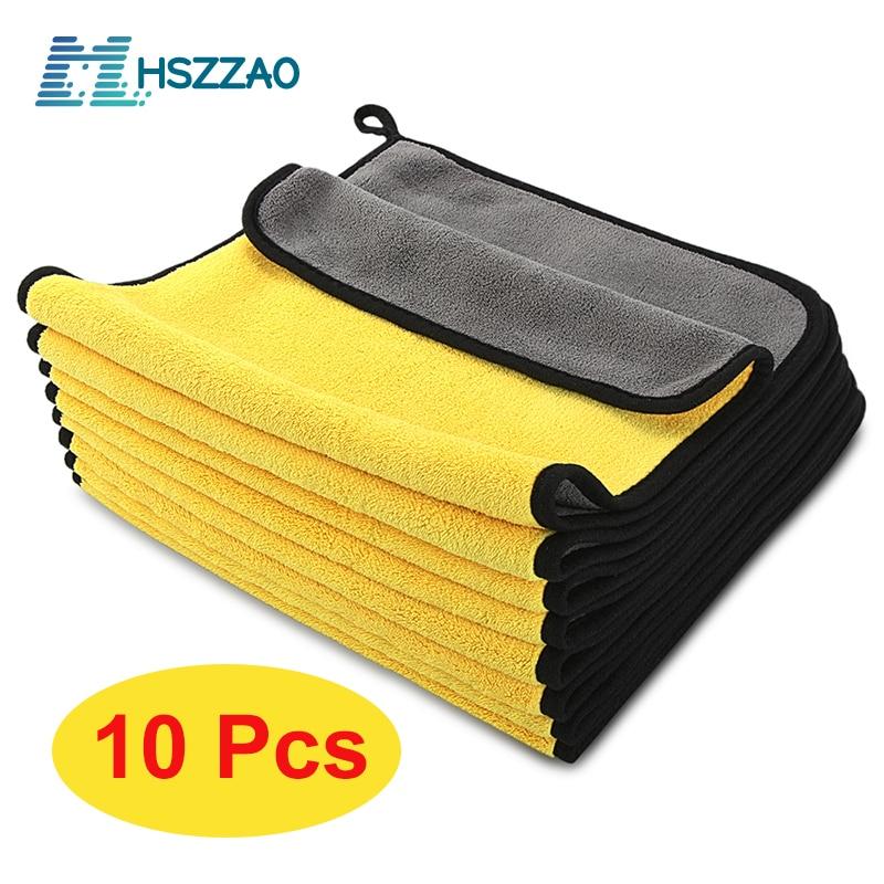 3/5/10 pcs Extra Soft Car Wash Microfiber Towel Car Cleaning Drying Cloth Car Care Cloth Detailing Car WashTowel Never Scrat