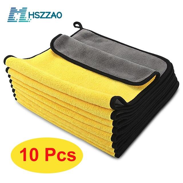 Lot de serviettes microfibres extra douces pour nettoyage de voiture, 3/5 ou 10 pièces, tissu de séchage pour maintenance esthétique, ne raye jamais
