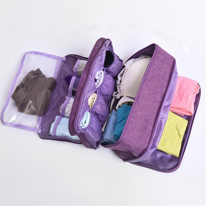 Travel Storage Dividers Box Bag Bra Underware Drawer Organizers Socks Briefs Cloth Case Clothing Wardrobe Accessories Supplies