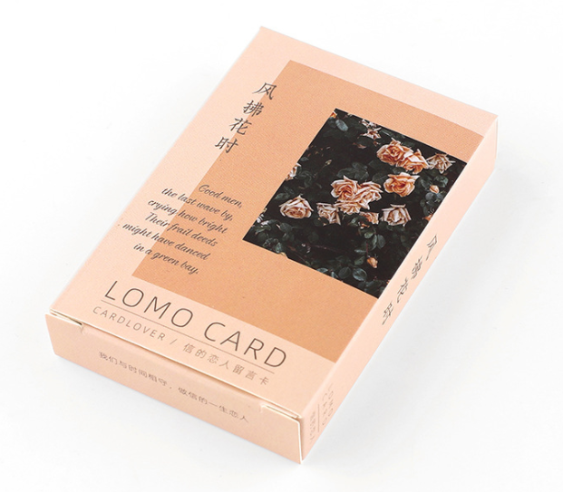 L53- Wind Flower Paper Greeting Card Lomo Card(1pack=28pieces)