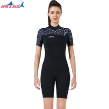 3MM Women One Piece Scuba Swim Surfing Snorkeling Spearfishing Water Sport Diving Suit Plus Size WetSuit For Sailing Free Ship sbart women full body scuba dive wet suit 3mm neoprene wetsuits winter swim surfing snorkeling spearfishing water swimsuit