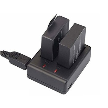 2x1050 мАч Спортивная экшн-камера батарея для EKEN H9 H9R H3R H8PRO H8R pro SJCAM SJ4000 SJ5000 Sport Mini DV Bateria + двойное зарядное устройство