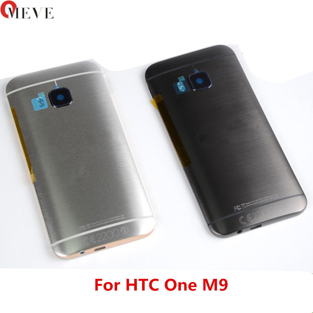 New Metal Rear Housing Door For <font><b>HTC</b></font> <font><b>One</b></font> <font><b>M9</b></font> Back <font><b>Battery</b></font> Cover <font><b>Case</b></font> with Volume + Power Button + Camera Lens Assembly image