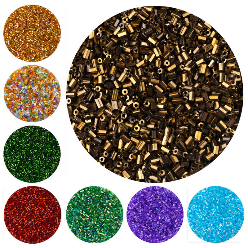 25 color Loose 2*3mm 800pcs Czech Cylindrical Glass Seed Needle Beads for Necklace Bracelet glass beads for Jewelry DIY Making