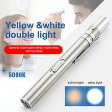 Usb recarregável médica acessível caneta luz mini enfermagem lanterna led tocha lâmpada com clipe de aço inoxidável bolso lanterna led