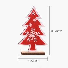 Wooden Christmas Tree Snowflake Ornament Desktop Table Decoration Merry Xmas Creative Drops
