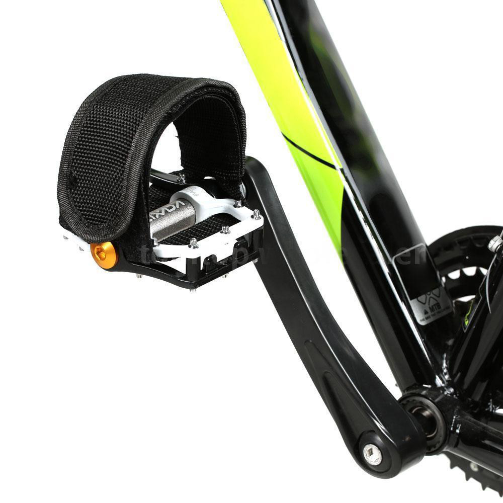 Road Mountain Bike Bicycle Small Pedal Toe Clips /& Strap Set Pair Sm S  Pr NEW