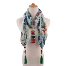 temperament lady shawl neck ornaments necklace national style scarf Mongolian clothing accessories 1835 pendant
