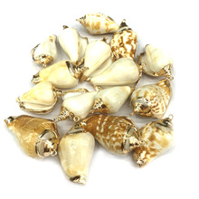 Wholesale 5 Pcs Natural Shell Conch Pendants Charms for Jewelry Making Supplies DIY Bracelet Necklaces Accessories 25x45mm