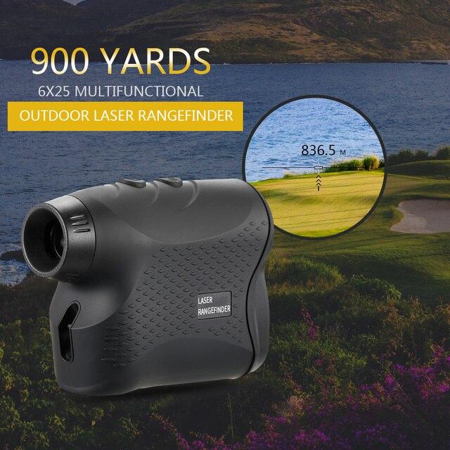 600M / 900M lazer telemetre avcılık Golf lazer menzil ölçer lazer mesafe ölçer hız test cihazı dijital ölçüm monoküler