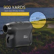 Telémetro láser Telémetro Láser para caza y Golf de 600M/900M, medidor de distancia láser, probador de velocidad Digital, Monocular de medición