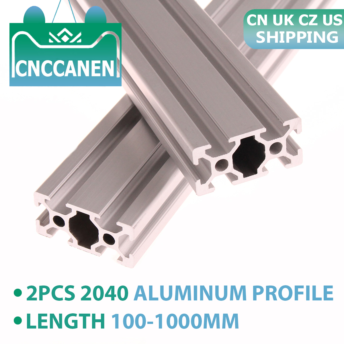 2PCS <font><b>2040</b></font> Aluminum Profile <font><b>Extrusion</b></font> European Standard Linear Rail Aluminum Profile <font><b>2040</b></font> <font><b>Extrusion</b></font> <font><b>2040</b></font> for CNC 3D Printer Parts image